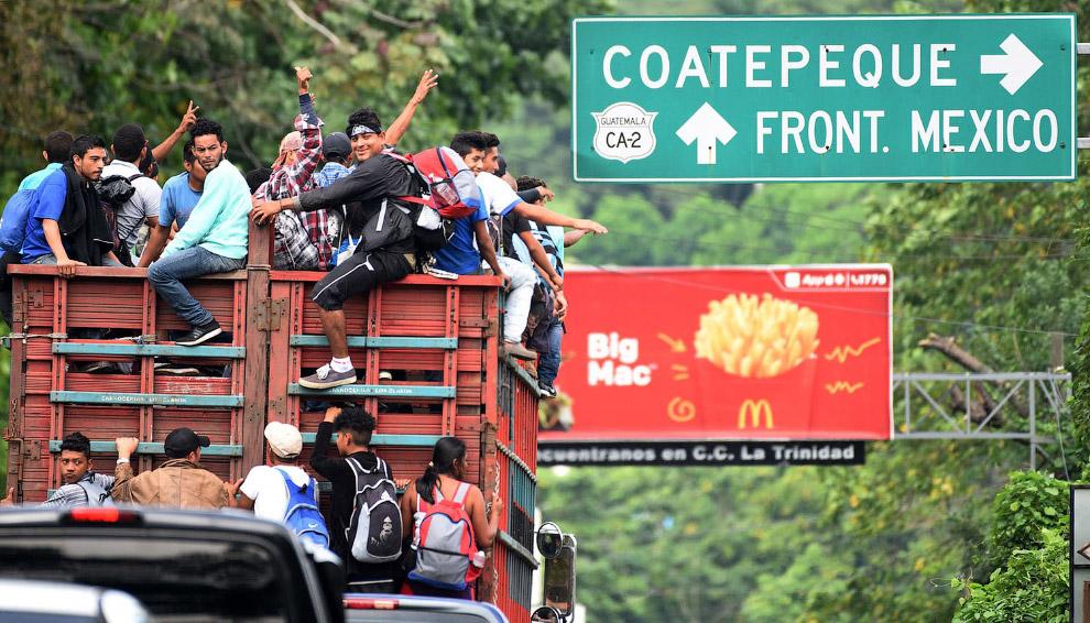 Мигранты из Гватемала двигаются на границу с Мексикой