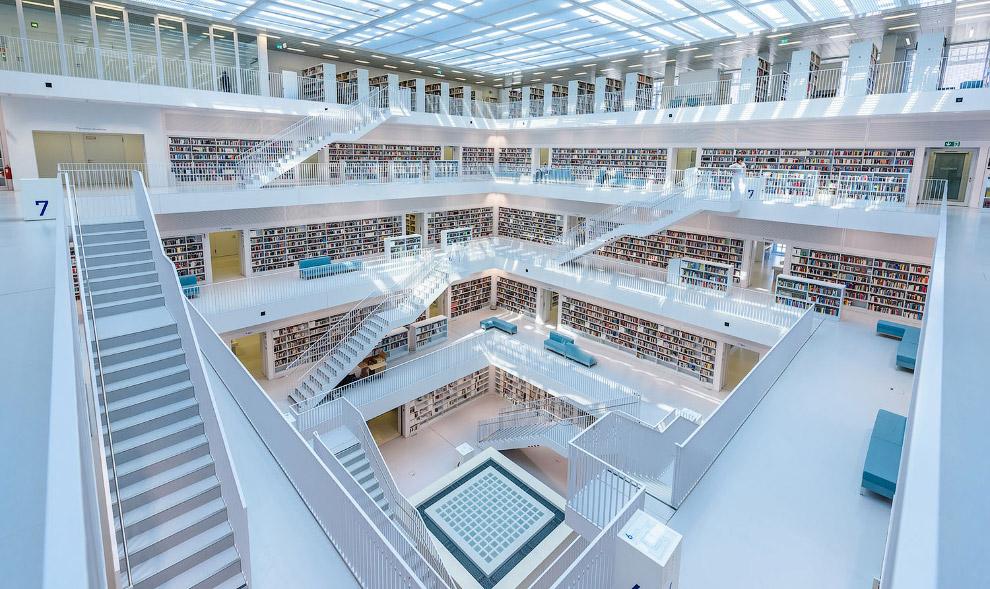 Городскую библиотеку Штутгарта