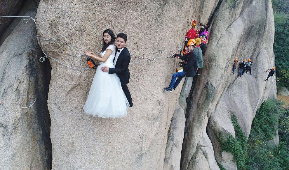 Чжумадянь, провинция Хэнань. Тут находится тропа для настоящих экстремалов