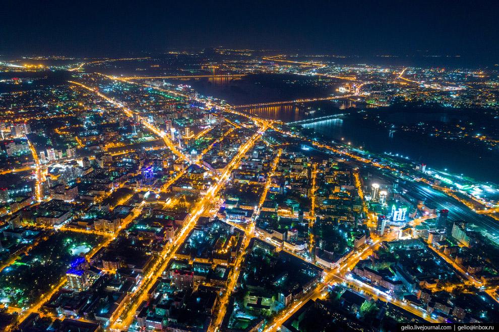 Ночной Новосибирск.