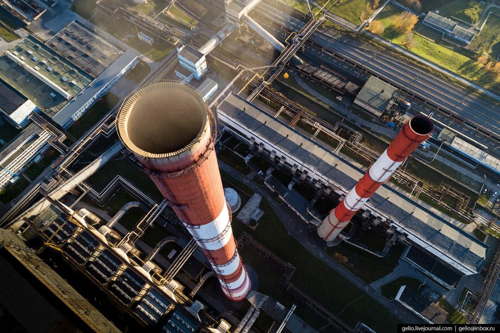 260-метровая дымовая труба ТЭЦ-5