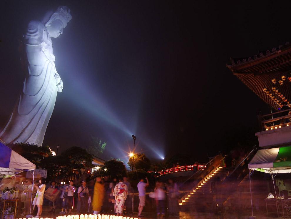 Статуя в парке Кита-Мияко в городе Такасаки, Япония