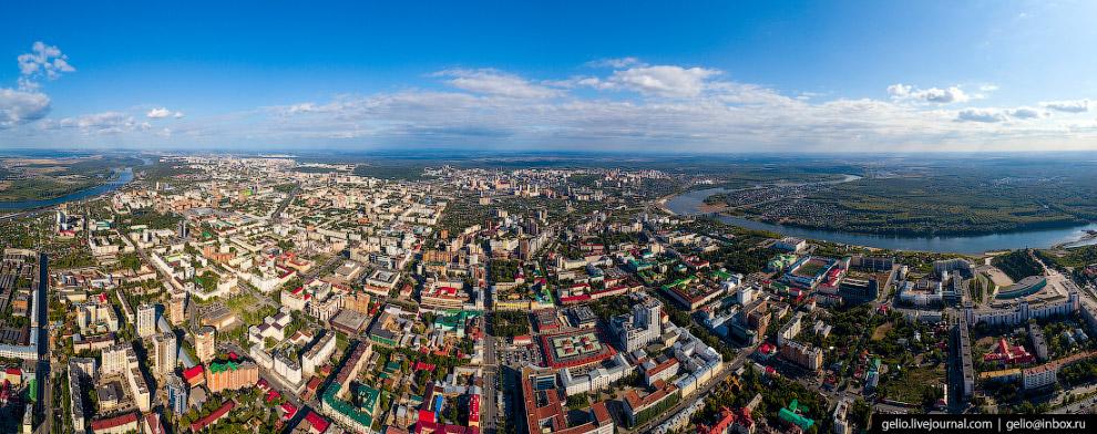 Панорама центра Уфы