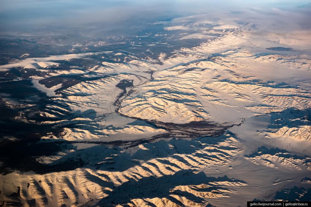 Граница России и Монголии.