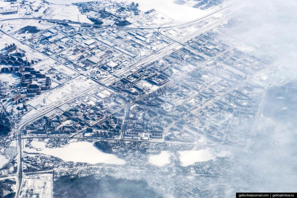 Застройка северной части Санкт-Петербурга.