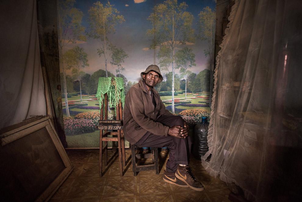 Портрет трущобах в Найроби, Кения