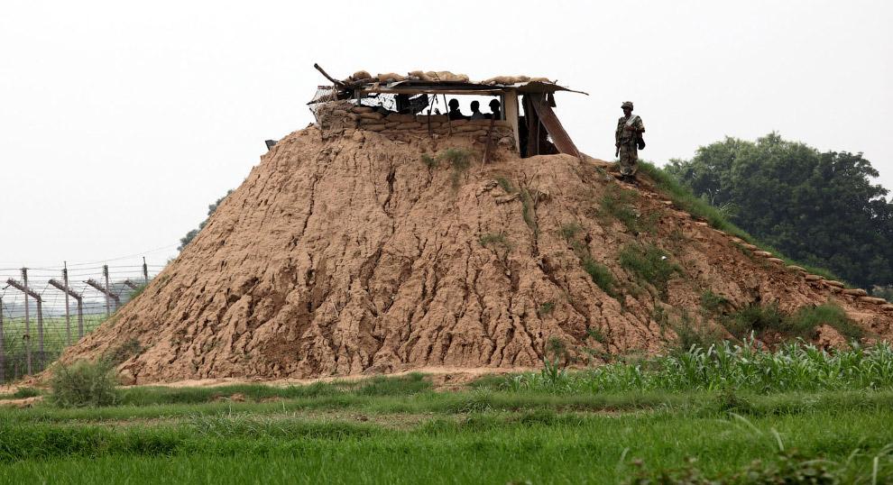 Пограничный пост Индия-Пакистан в Чачвале