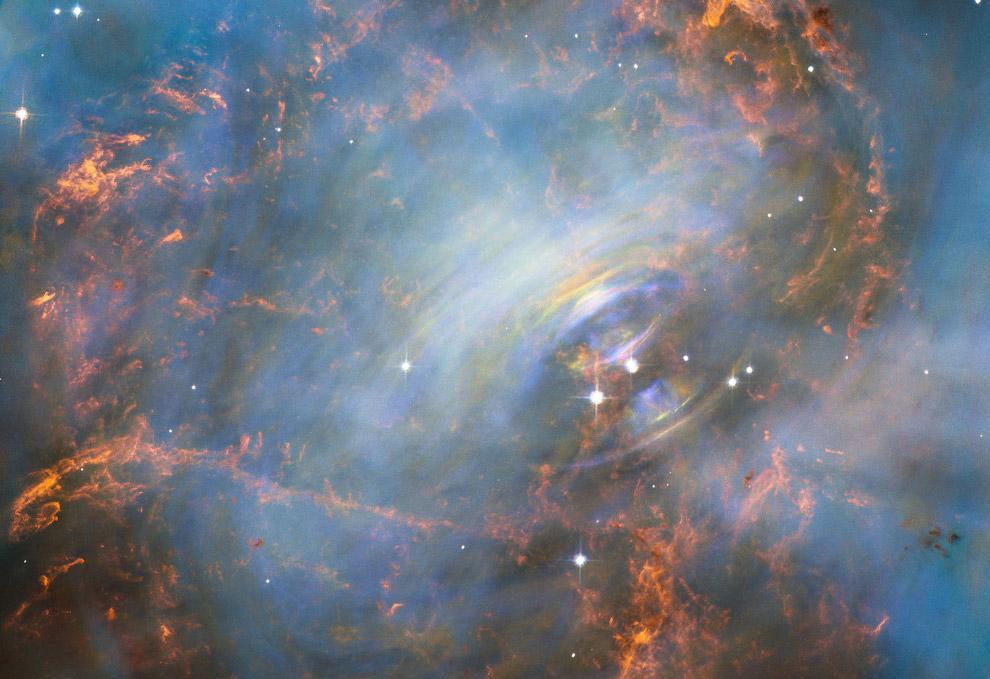 Сердце газообразной Крабовидной туманности в созвездии Тельца