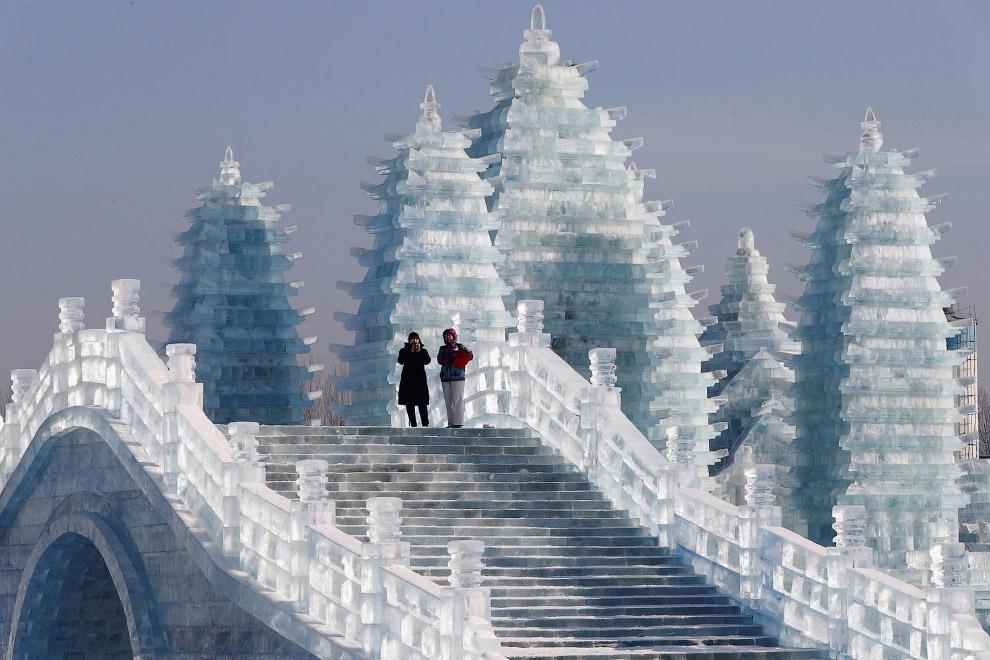 Фестиваль льда и снега в Харбине 2019