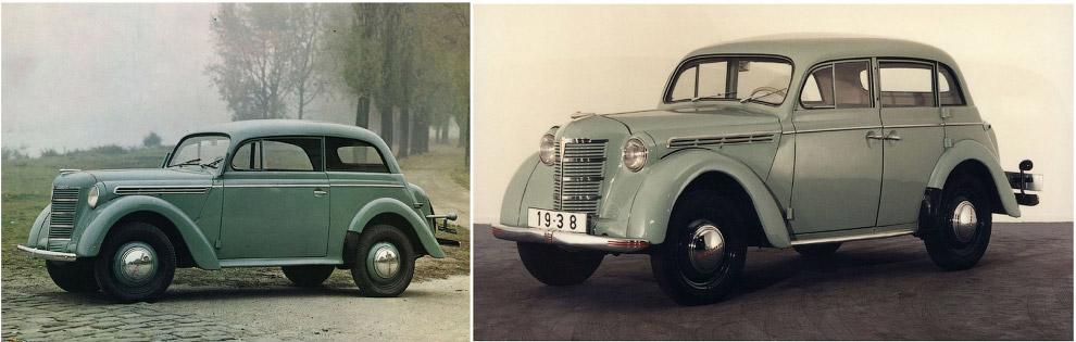Opel Kadett, 1937 — Москвич-400, 1946