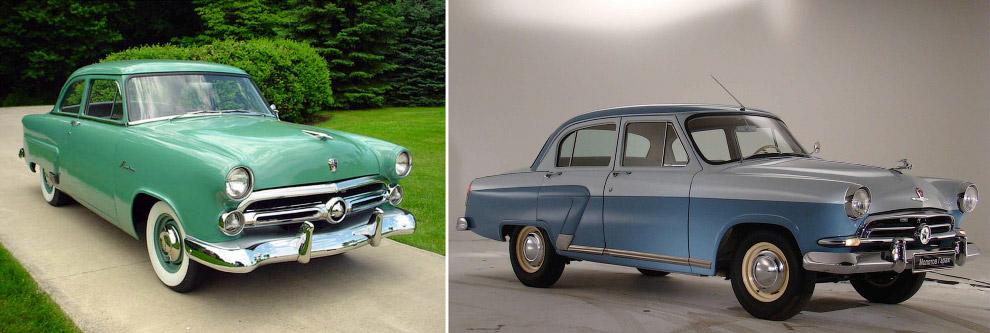 Ford Mainline, 1952 год — Волга ГАЗ-21, 1956 год
