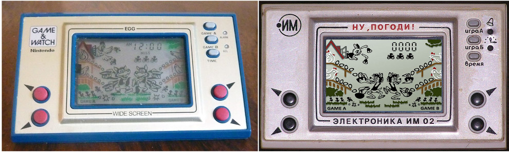 Nintendo, EGG, 1981 год — «Ну, погоди!», 1984 год