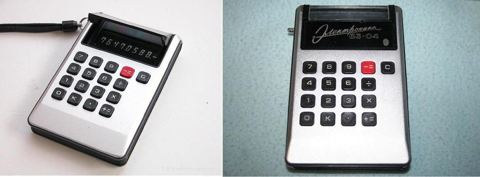 Sharp EL-805, 1973 — «Электроника БЗ-04», 1974