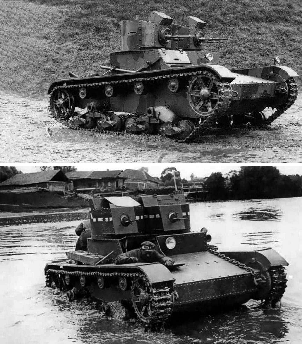 Vickers Mk E, 1930 год — Т-26, 1931 год