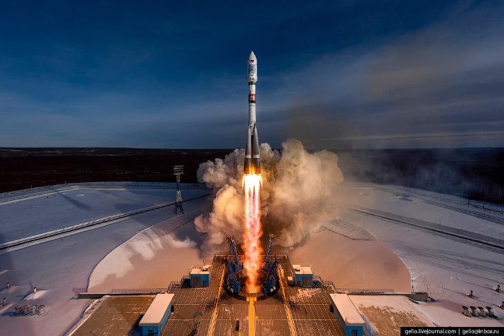 Космодром Восточный: запуск ракеты «Союз-2.1а»