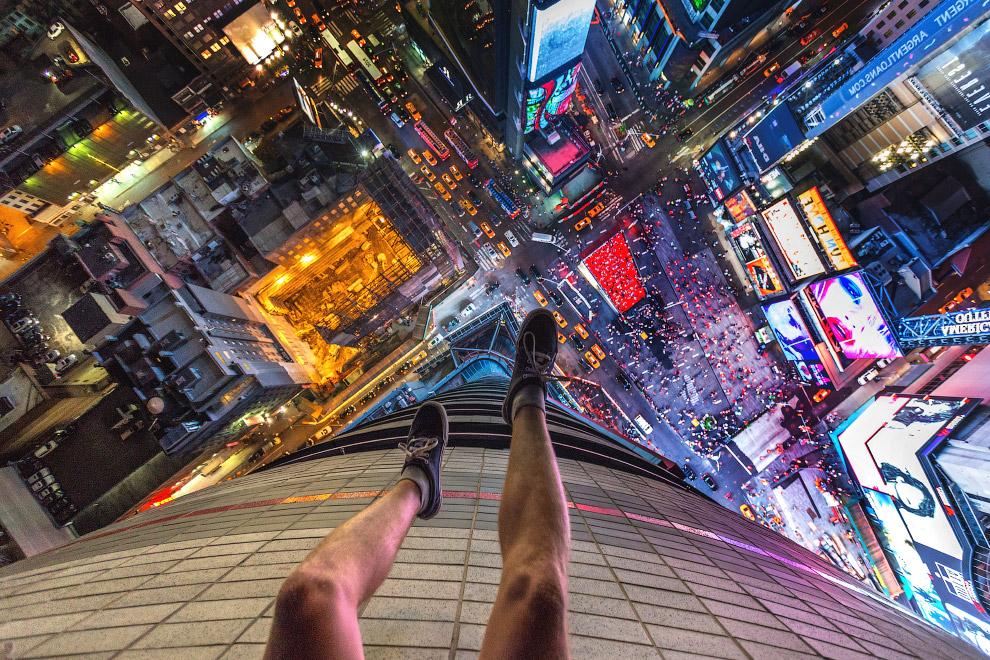 Повисеть на высоте над Таймс-сквером в Нью-Йорке — бесценно