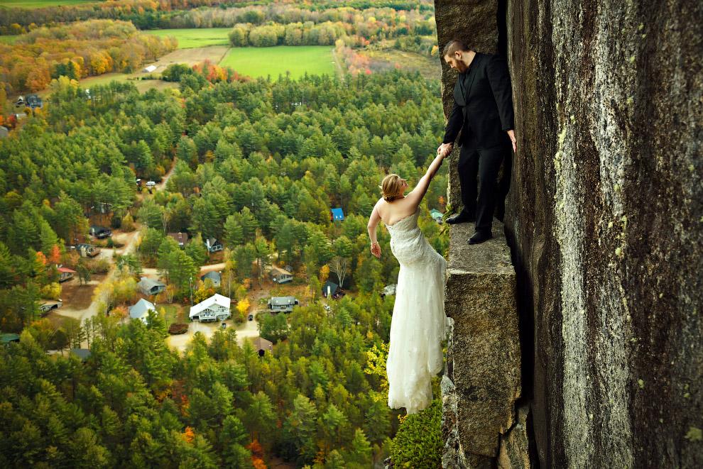 Смелая свадебная фотография