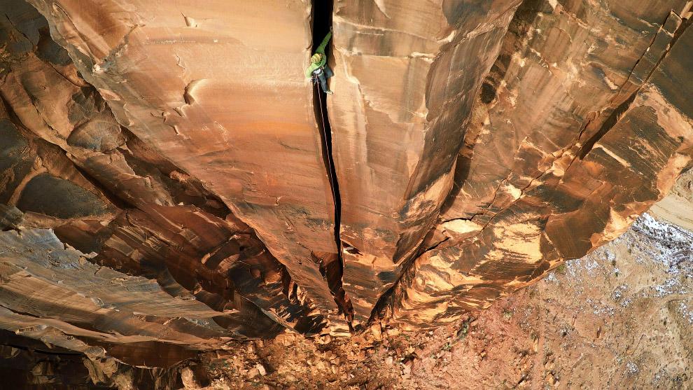Экстрим на скале в штате Юта