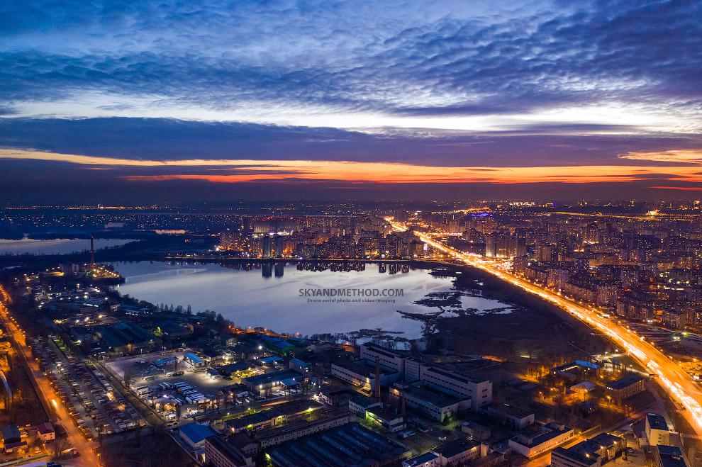 Вид на Харьковский массив с микрорайона Бортничи