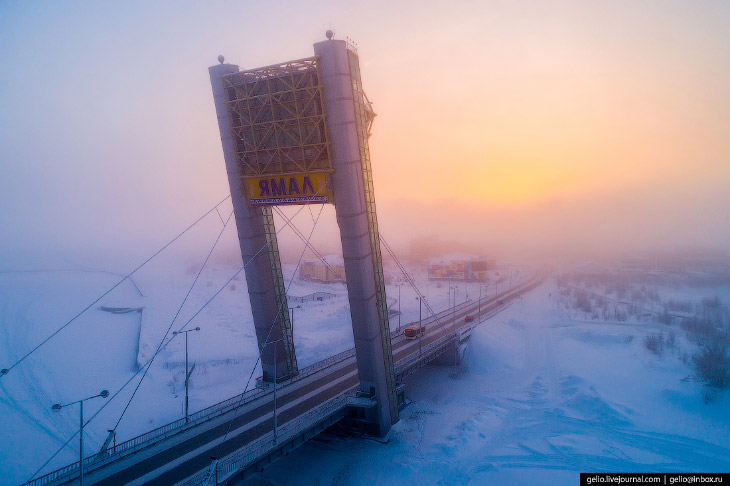 Салехард з висоти: місто на полярному колі