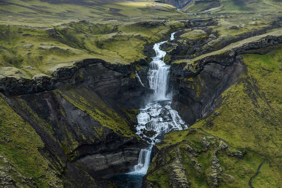 Водопад Эфруфосс в Исландии