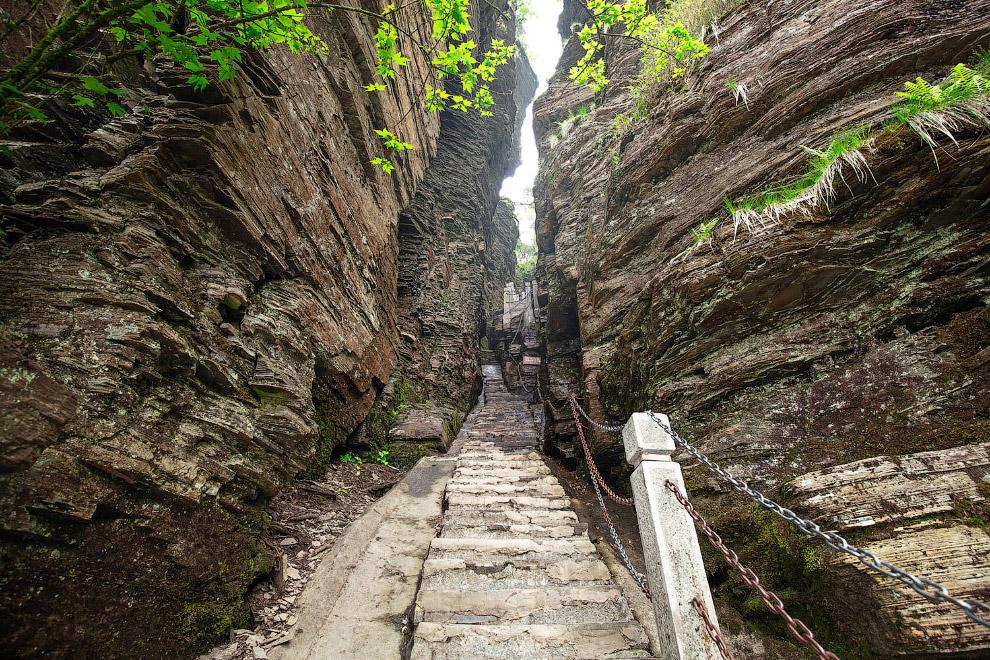 Ущелье и лестница наверх