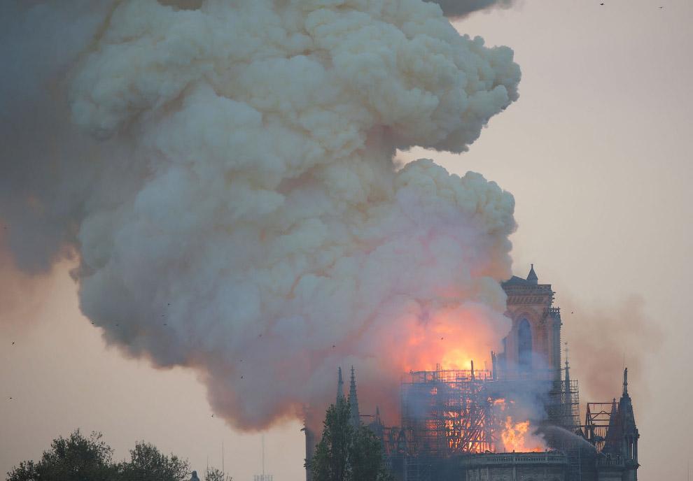 В Париже сгорел Нотр-Дам де Пари — собор Парижской Богоматери