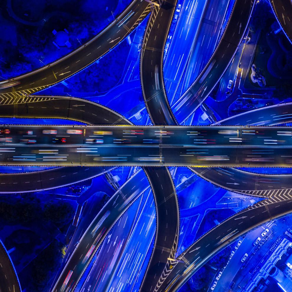Транспортная развязка в Шанхае