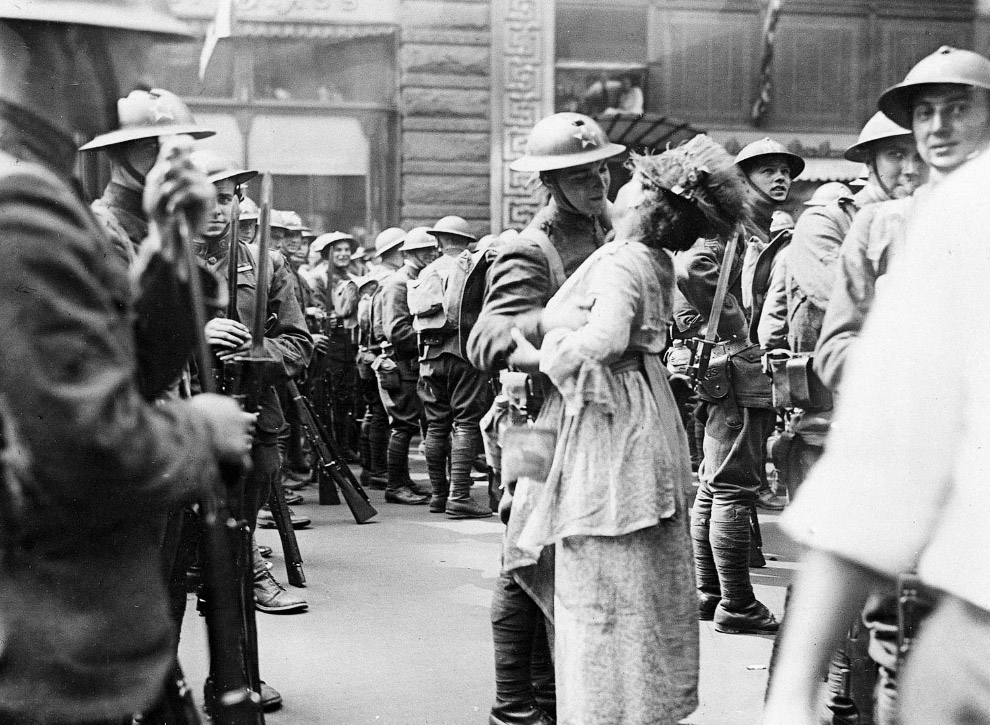 Парад в честь возвращения на родину в конце Первой мировой войны, 1919 год