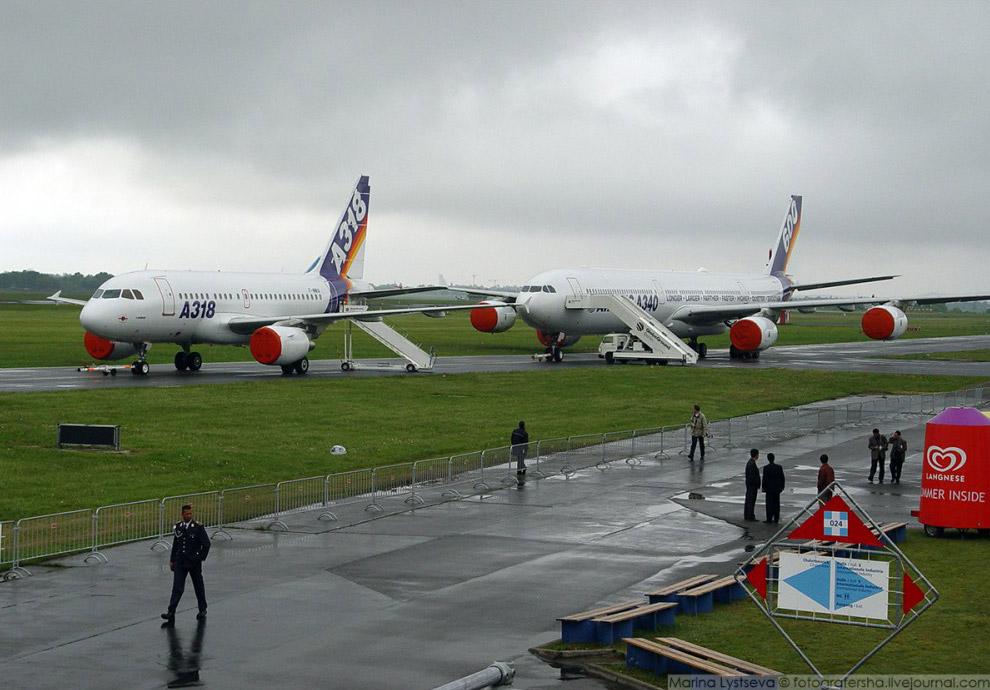 А318 и А340 на авиасалоне ILA, Берлин, 2004 год.