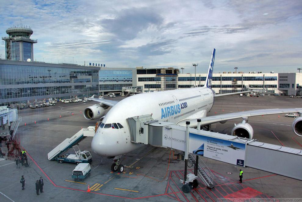 Первый визит А380 в Россиию, октябрь 2010 г.
