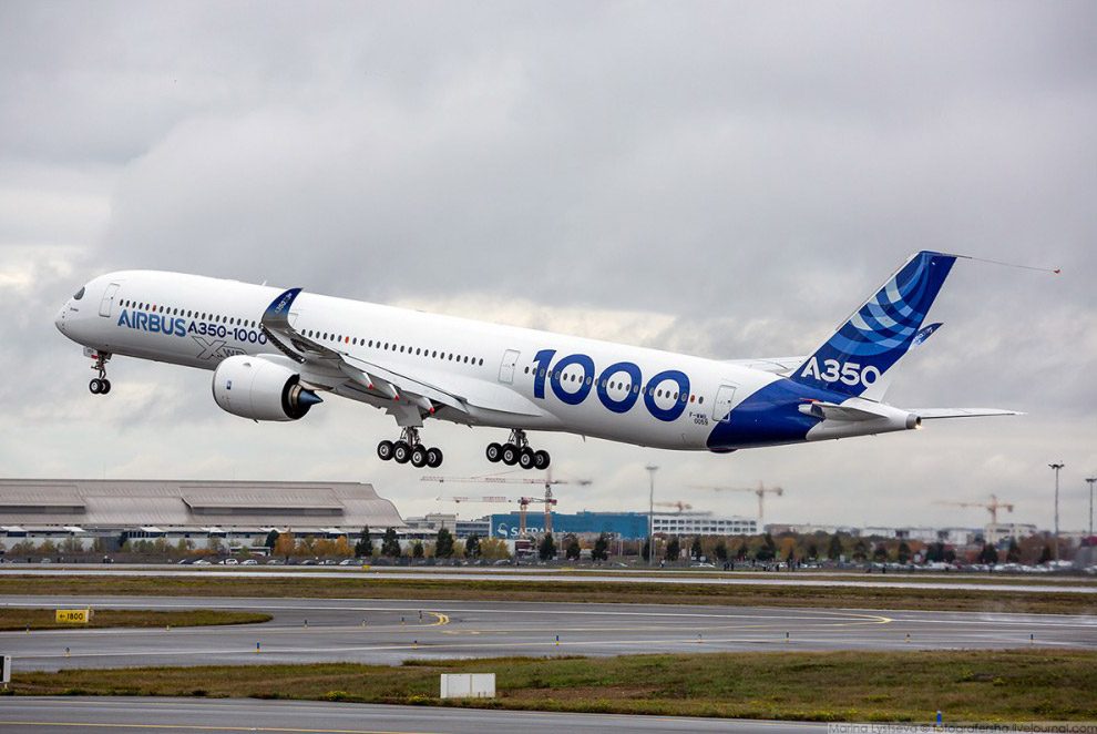 Первый полёт А350-1000, Тулуза, ноябрь 2016 г.