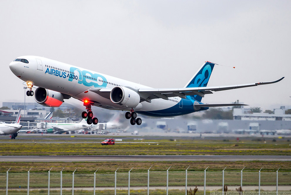 Перший політ А330neo, Тулуза, жовтень 2017 р