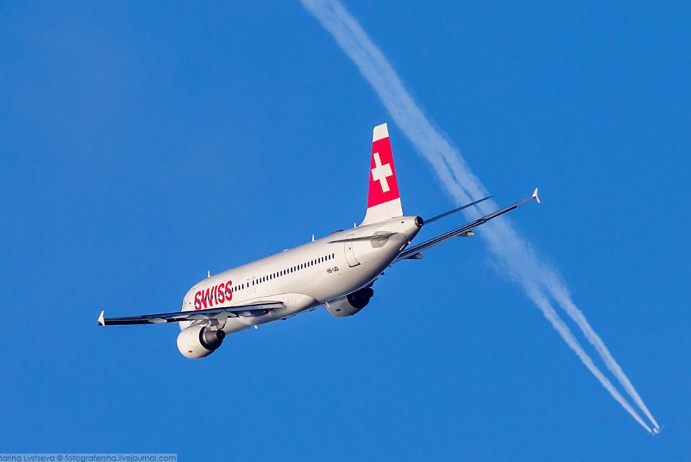 A320 SWISS вилетів з Хітроу, 2014 рік.