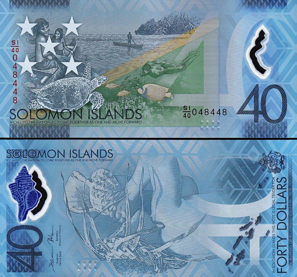 40-долларовая купюра Соломоновых островов