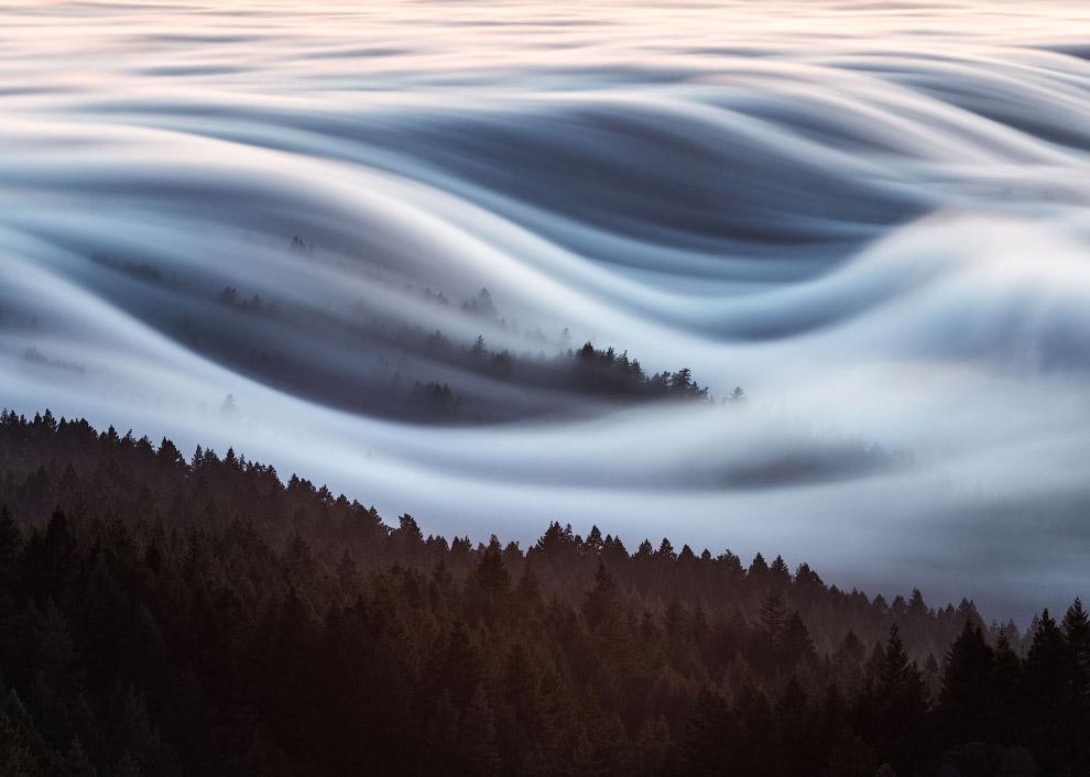 Волны тумана в долине