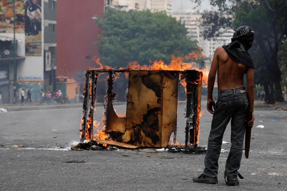 Боевая часть протестующих