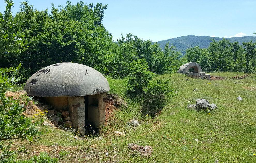 Бункеры холодной войны в Албании