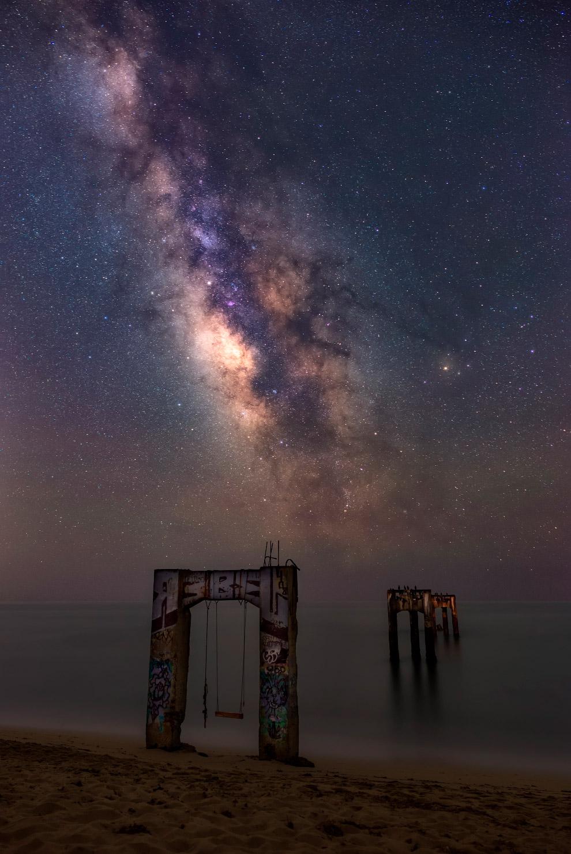 Центр нашей галактики над пирсом Давенпорта