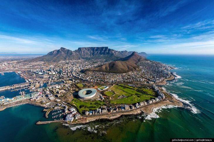 Кейптаун с высоты: самый красивый город Африки