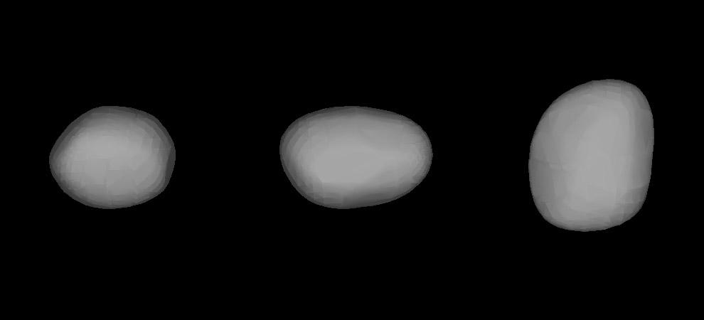 Трёхмерная модель астероида Психея