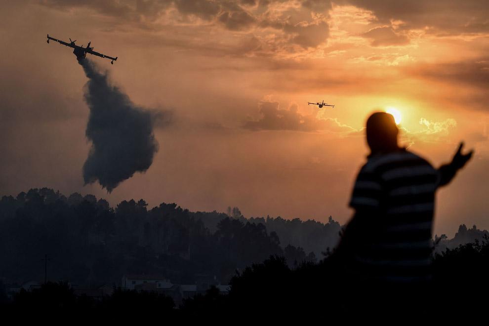 Работа пожарных самолетов, Португалия