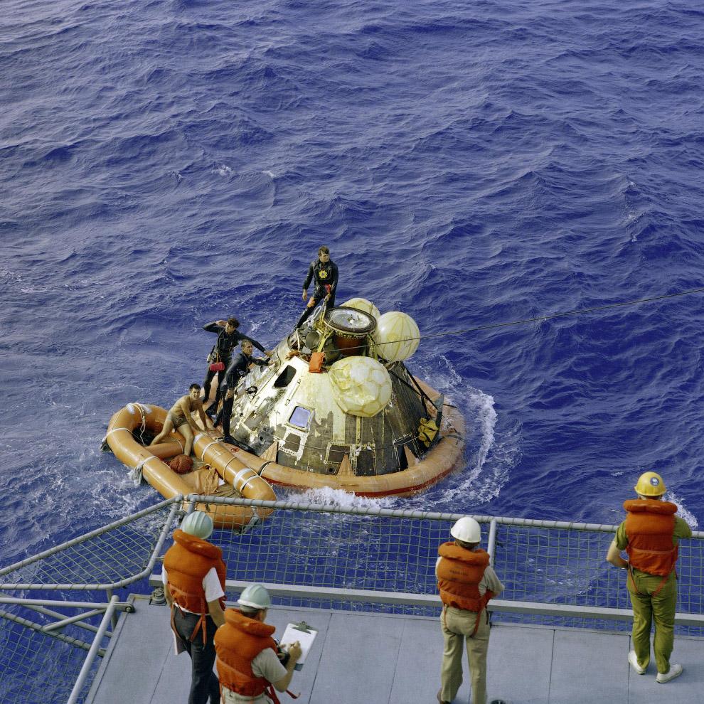 Повернення екіпажу «Аполлона-11» на Землю