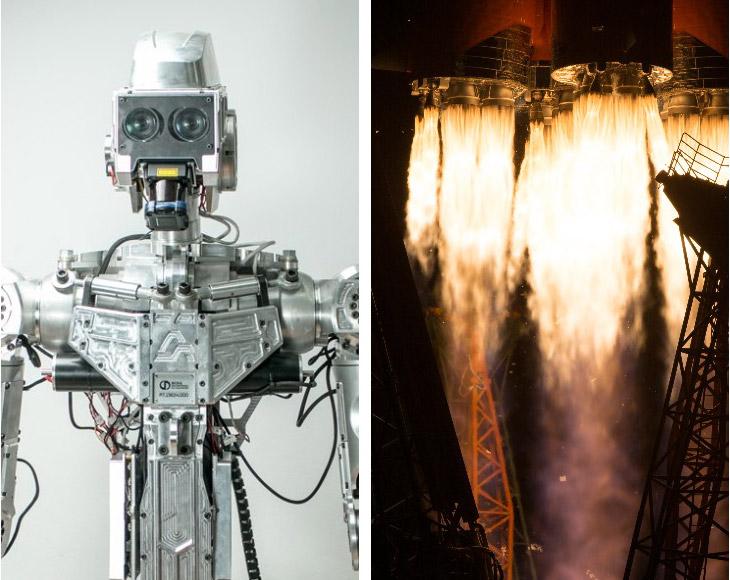 Старт космического корабля «Союз МС-13» с роботом аватаром