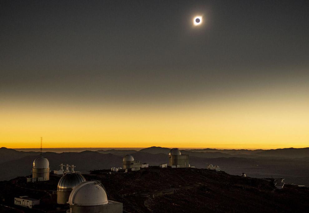 Полное солнечное затмение 2019