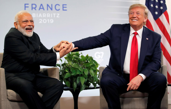 Дональд Трамп встречается с развеселым премьер-министром Индии Нарендрой Моди