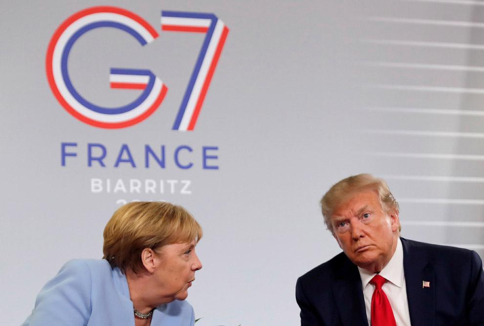 Трамп, о своем думающий, и Меркель