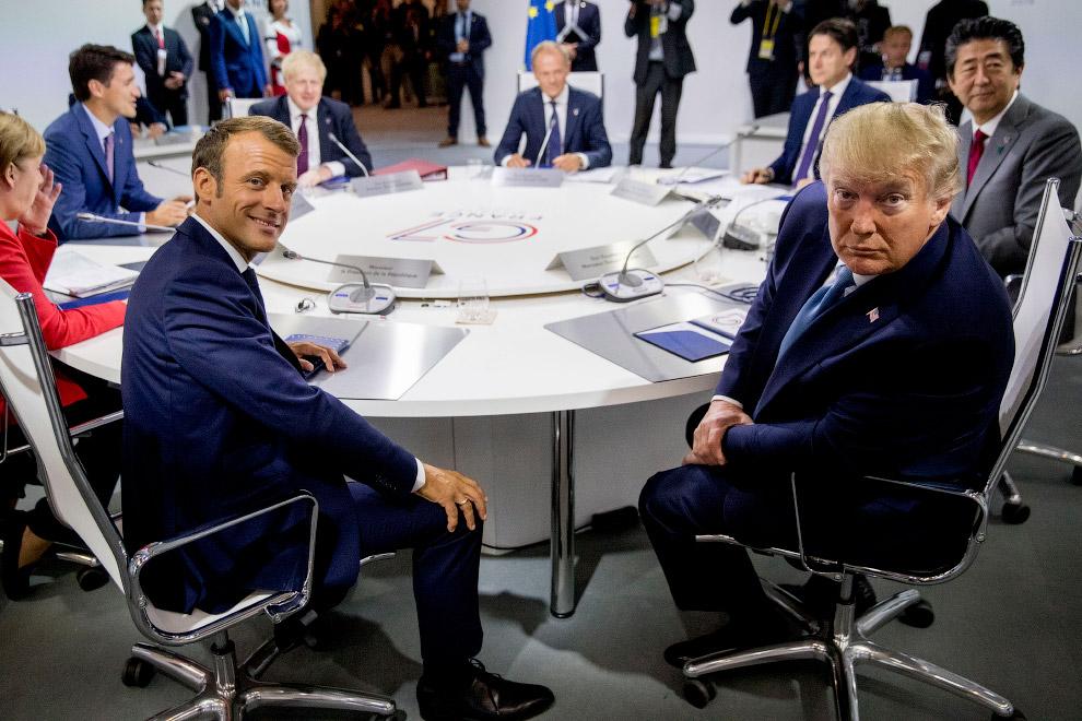 Эммануэль Макрон и президент Дональд Трамп