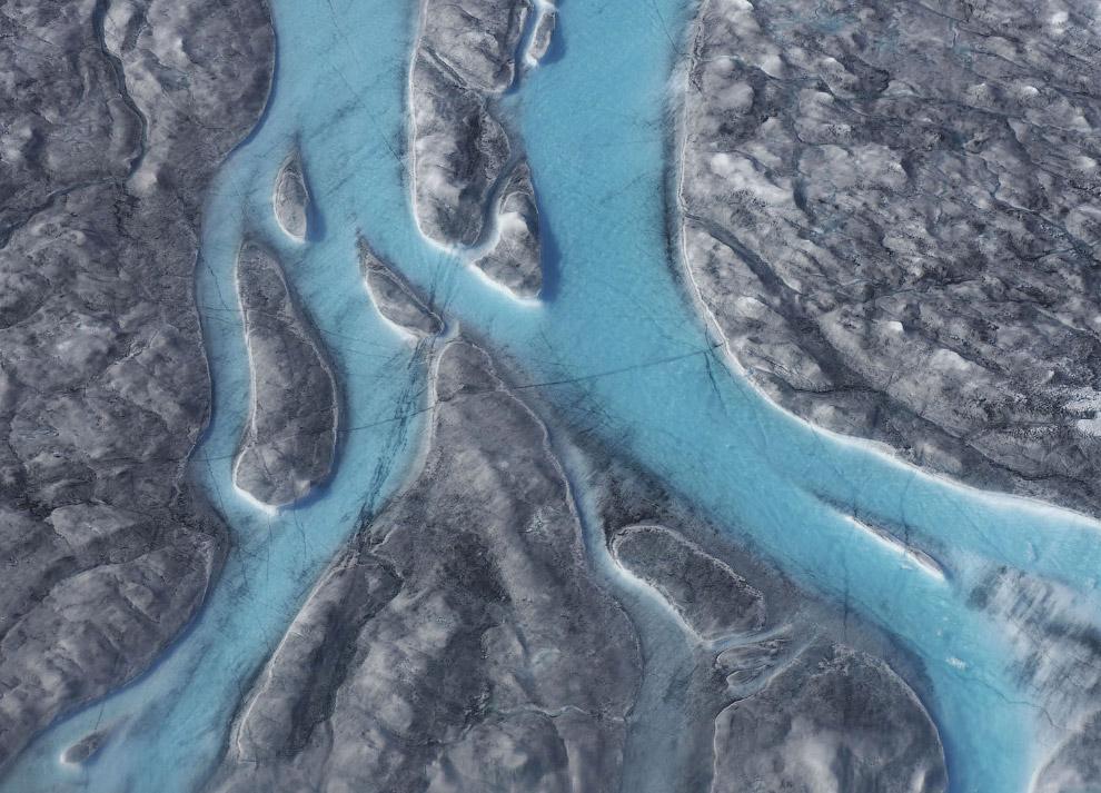 А вот так таяли ледники Гренландии