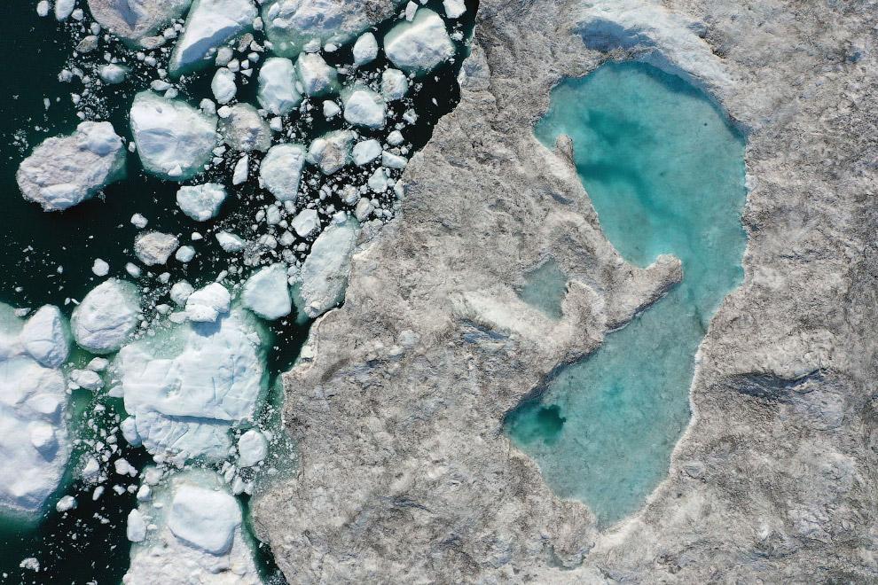 Таяние ледников и озеро